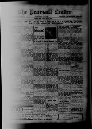 Primary view of object titled 'The Pearsall Leader (Pearsall, Tex.), Vol. 20, No. 13, Ed. 1 Friday, July 10, 1914'.