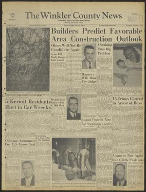 Primary view of object titled 'The Winkler County News (Kermit, Tex.), Vol. 26, No. 70, Ed. 1 Thursday, January 4, 1962'.