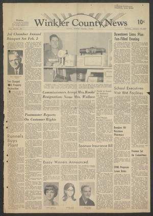 Primary view of object titled 'Winkler County News (Kermit, Tex.), Vol. 30, No. 36, Ed. 1 Sunday, January 29, 1967'.