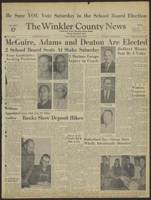 Primary view of object titled 'The Winkler County News (Kermit, Tex.), Vol. 26, No. 96, Ed. 1 Thursday, April 5, 1962'.
