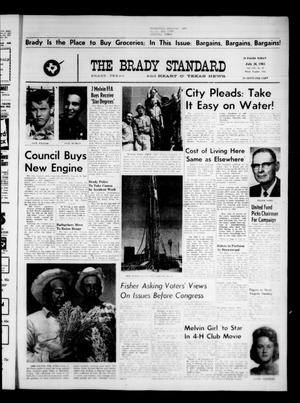 Primary view of object titled 'The Brady Standard and Heart O' Texas News (Brady, Tex.), Vol. 54, No. 41, Ed. 1 Friday, July 26, 1963'.