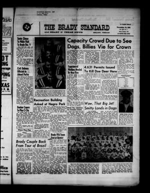 Primary view of object titled 'The Brady Standard and Heart O' Texas News (Brady, Tex.), Vol. 53, No. 4, Ed. 1 Friday, November 10, 1961'.