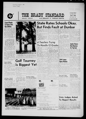Primary view of object titled 'The Brady Standard and Heart O' Texas News (Brady, Tex.), Vol. 53, No. 33, Ed. 1 Friday, June 1, 1962'.