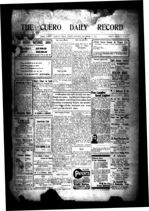 Primary view of object titled 'The Cuero Daily Record (Cuero, Tex.), Vol. [31], No. 143, Ed. 1 Friday, December 17, 1909'.