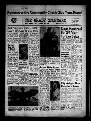Primary view of object titled 'The Brady Standard and Heart O' Texas News (Brady, Tex.), Vol. 53, No. 3, Ed. 1 Friday, November 3, 1961'.