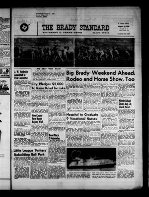 Primary view of object titled 'The Brady Standard and Heart O' Texas News (Brady, Tex.), Vol. 52, No. 44, Ed. 1 Friday, August 18, 1961'.