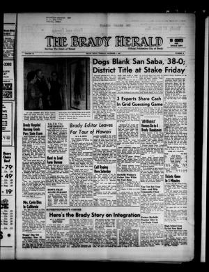 Primary view of object titled 'The Brady Herald (Brady, Tex.), Vol. 19, No. 2, Ed. 1 Tuesday, November 7, 1961'.