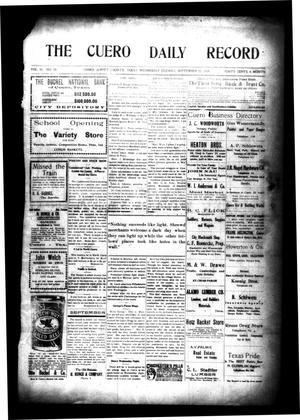 Primary view of object titled 'The Cuero Daily Record (Cuero, Tex.), Vol. 30, No. 70, Ed. 1 Wednesday, September 22, 1909'.