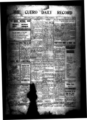 Primary view of object titled 'The Cuero Daily Record (Cuero, Tex.), Vol. 31, No. 150, Ed. 1 Monday, December 27, 1909'.