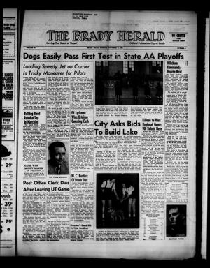 Primary view of object titled 'The Brady Herald (Brady, Tex.), Vol. 19, No. 4, Ed. 1 Tuesday, November 21, 1961'.
