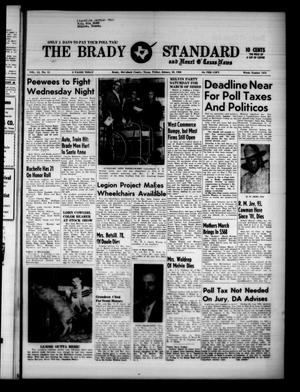 Primary view of object titled 'The Brady Standard and Heart O' Texas News (Brady, Tex.), Vol. 51, No. 15, Ed. 1 Friday, January 29, 1960'.