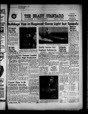 Primary view of object titled 'The Brady Standard and Heart O' Texas News (Brady, Tex.), Vol. 53, No. 6, Ed. 1 Friday, November 24, 1961'.