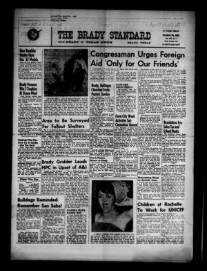 Primary view of object titled 'The Brady Standard and Heart O' Texas News (Brady, Tex.), Vol. 53, No. 1, Ed. 1 Friday, October 20, 1961'.