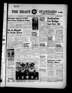 Primary view of object titled 'The Brady Standard and Heart O' Texas News (Brady, Tex.), Vol. 51, No. 48, Ed. 1 Friday, September 16, 1960'.