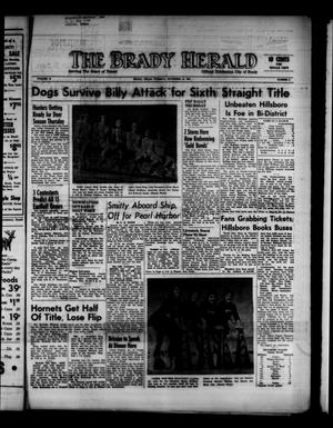 Primary view of object titled 'The Brady Herald (Brady, Tex.), Vol. 19, No. 3, Ed. 1 Tuesday, November 14, 1961'.