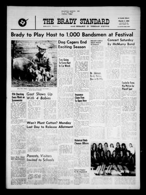 Primary view of object titled 'The Brady Standard and Heart O' Texas News (Brady, Tex.), Vol. 54, No. 20, Ed. 1 Friday, March 1, 1963'.
