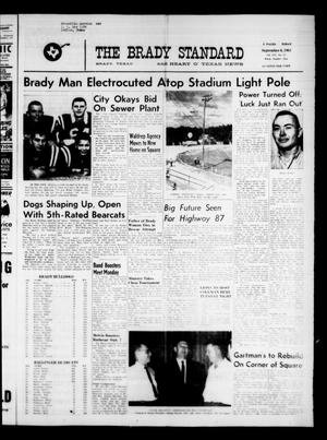 Primary view of object titled 'The Brady Standard and Heart O' Texas News (Brady, Tex.), Vol. 54, No. 47, Ed. 1 Friday, September 6, 1963'.