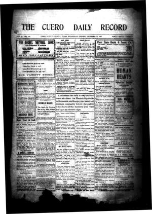 Primary view of object titled 'The Cuero Daily Record (Cuero, Tex.), Vol. 31, No. 141, Ed. 1 Wednesday, December 15, 1909'.