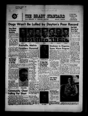 Primary view of object titled 'The Brady Standard and Heart O' Texas News (Brady, Tex.), Vol. 53, No. 7, Ed. 1 Friday, December 1, 1961'.