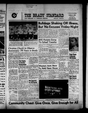 Primary view of object titled 'The Brady Standard and Heart O' Texas News (Brady, Tex.), Vol. 52, No. 51, Ed. 1 Friday, October 6, 1961'.