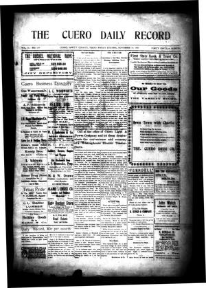 Primary view of object titled 'The Cuero Daily Record (Cuero, Tex.), Vol. 31, No. 119, Ed. 1 Friday, November 19, 1909'.