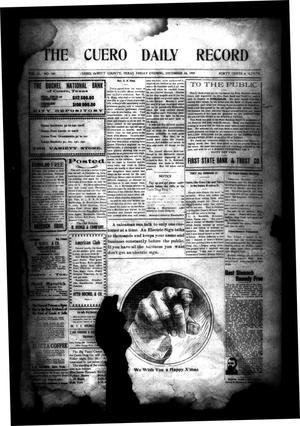 Primary view of object titled 'The Cuero Daily Record (Cuero, Tex.), Vol. 31, No. 149, Ed. 1 Friday, December 24, 1909'.