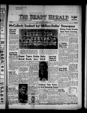 Primary view of object titled 'The Brady Herald (Brady, Tex.), Vol. 18, No. 50, Ed. 1 Tuesday, October 10, 1961'.