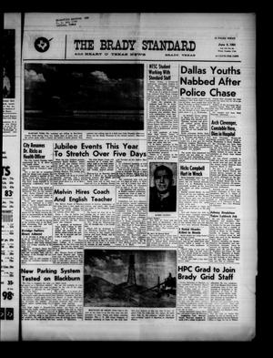 Primary view of object titled 'The Brady Standard and Heart O' Texas News (Brady, Tex.), Vol. 52, No. 34, Ed. 1 Friday, June 9, 1961'.