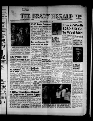 Primary view of object titled 'The Brady Herald (Brady, Tex.), Vol. 18, No. 37, Ed. 1 Tuesday, July 11, 1961'.