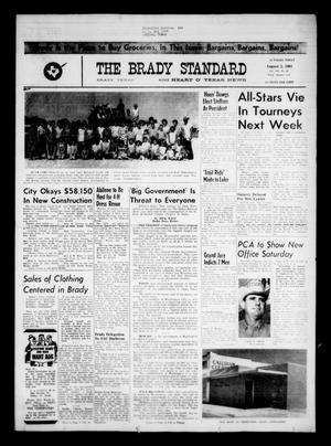 Primary view of object titled 'The Brady Standard and Heart O' Texas News (Brady, Tex.), Vol. 54, No. 42, Ed. 1 Friday, August 2, 1963'.