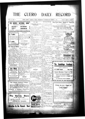 Primary view of object titled 'The Cuero Daily Record (Cuero, Tex.), Vol. 30, No. 52, Ed. 1 Wednesday, September 1, 1909'.