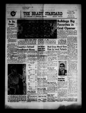 Primary view of object titled 'The Brady Standard and Heart O' Texas News (Brady, Tex.), Vol. 52, No. 46, Ed. 1 Friday, September 1, 1961'.