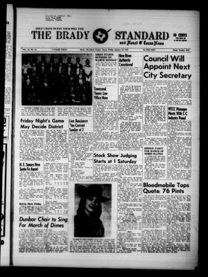 Primary view of object titled 'The Brady Standard and Heart O' Texas News (Brady, Tex.), Vol. 51, No. 14, Ed. 1 Friday, January 22, 1960'.
