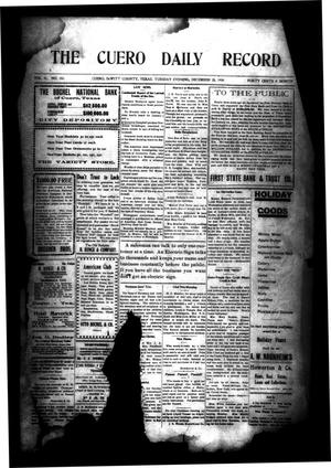 Primary view of object titled 'The Cuero Daily Record (Cuero, Tex.), Vol. 31, No. 151, Ed. 1 Tuesday, December 28, 1909'.