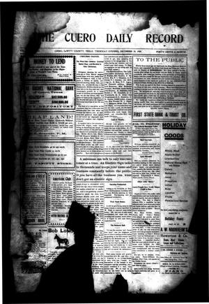 Primary view of object titled 'The Cuero Daily Record (Cuero, Tex.), Vol. [31], No. 153, Ed. 1 Thursday, December 30, 1909'.