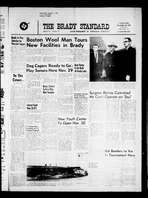 Primary view of object titled 'The Brady Standard and Heart O' Texas News (Brady, Tex.), Vol. 55, No. 6, Ed. 1 Friday, November 22, 1963'.