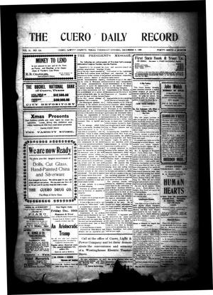 Primary view of object titled 'The Cuero Daily Record (Cuero, Tex.), Vol. 31, No. 136, Ed. 1 Thursday, December 9, 1909'.