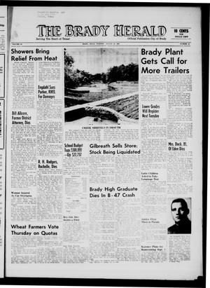 Primary view of object titled 'The Brady Herald (Brady, Tex.), Vol. 19, No. 43, Ed. 1 Tuesday, August 28, 1962'.