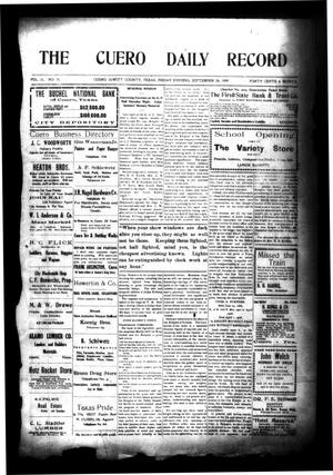 Primary view of object titled 'The Cuero Daily Record (Cuero, Tex.), Vol. 31, No. 71, Ed. 1 Friday, September 24, 1909'.