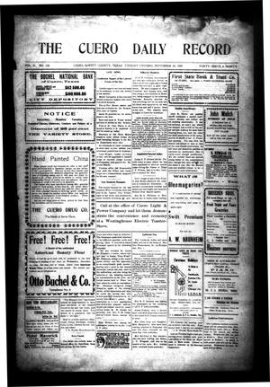 Primary view of object titled 'The Cuero Daily Record (Cuero, Tex.), Vol. 31, No. 128, Ed. 1 Tuesday, November 30, 1909'.