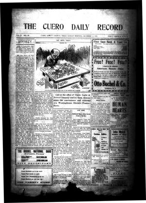 Primary view of object titled 'The Cuero Daily Record (Cuero, Tex.), Vol. 31, No. 138, Ed. 1 Sunday, December 12, 1909'.
