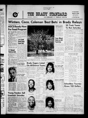 Primary view of object titled 'The Brady Standard and Heart O' Texas News (Brady, Tex.), Vol. 54, No. 22, Ed. 1 Friday, March 15, 1963'.
