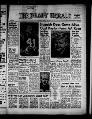 Primary view of object titled 'The Brady Herald (Brady, Tex.), Vol. 19, No. 6, Ed. 1 Tuesday, December 5, 1961'.