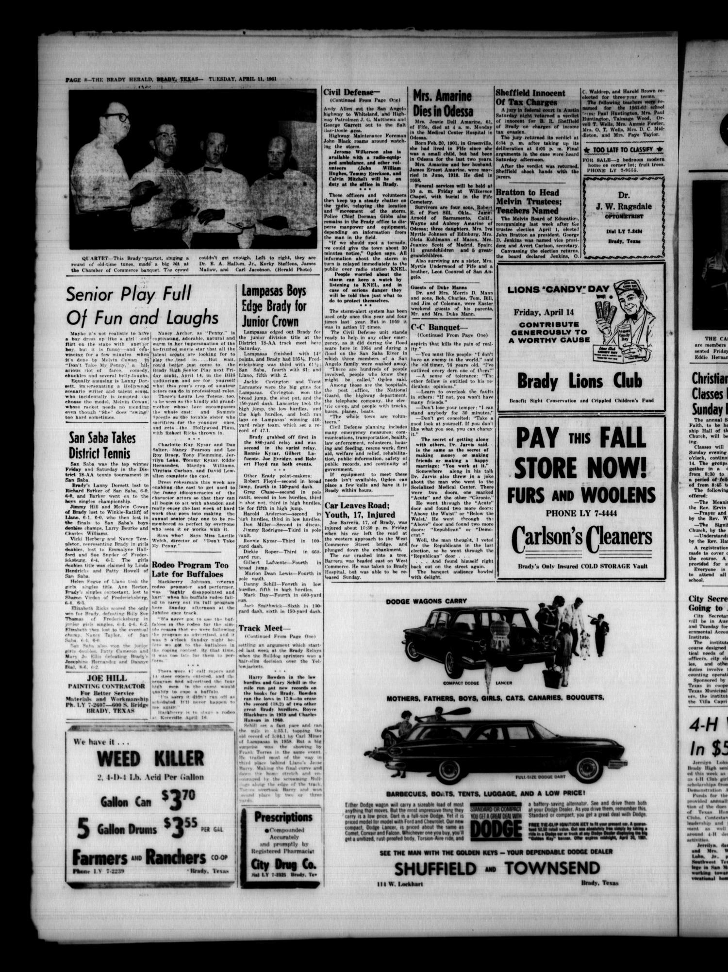 The Brady Herald (Brady, Tex ), Vol  18, No  25, Ed  1 Tuesday