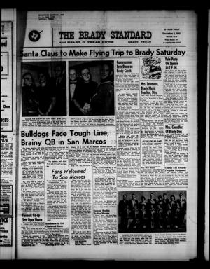 Primary view of object titled 'The Brady Standard and Heart O' Texas News (Brady, Tex.), Vol. 53, No. 8, Ed. 1 Friday, December 8, 1961'.
