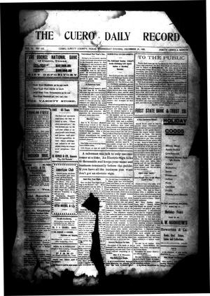 Primary view of object titled 'The Cuero Daily Record (Cuero, Tex.), Vol. 31, No. 152, Ed. 1 Wednesday, December 29, 1909'.