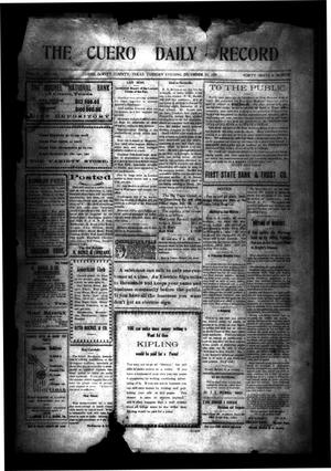 Primary view of object titled 'The Cuero Daily Record (Cuero, Tex.), Vol. 31, No. 146, Ed. 1 Tuesday, December 21, 1909'.