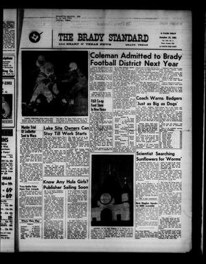 Primary view of object titled 'The Brady Standard and Heart O' Texas News (Brady, Tex.), Vol. 53, No. 2, Ed. 1 Friday, October 27, 1961'.