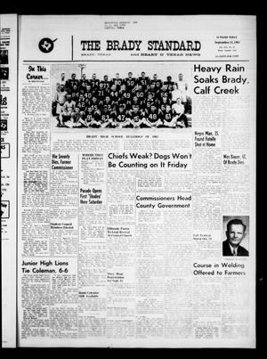 Primary view of object titled 'The Brady Standard and Heart O' Texas News (Brady, Tex.), Vol. 54, No. 48, Ed. 1 Friday, September 13, 1963'.