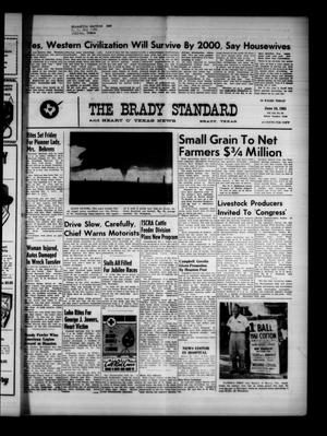 Primary view of object titled 'The Brady Standard and Heart O' Texas News (Brady, Tex.), Vol. 52, No. 35, Ed. 1 Friday, June 16, 1961'.